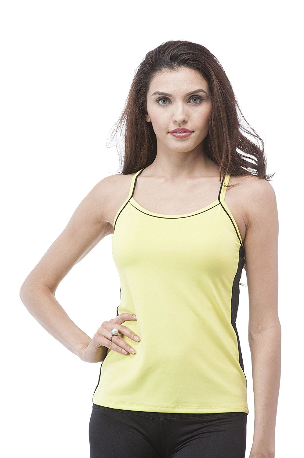 color block work out cami tank top