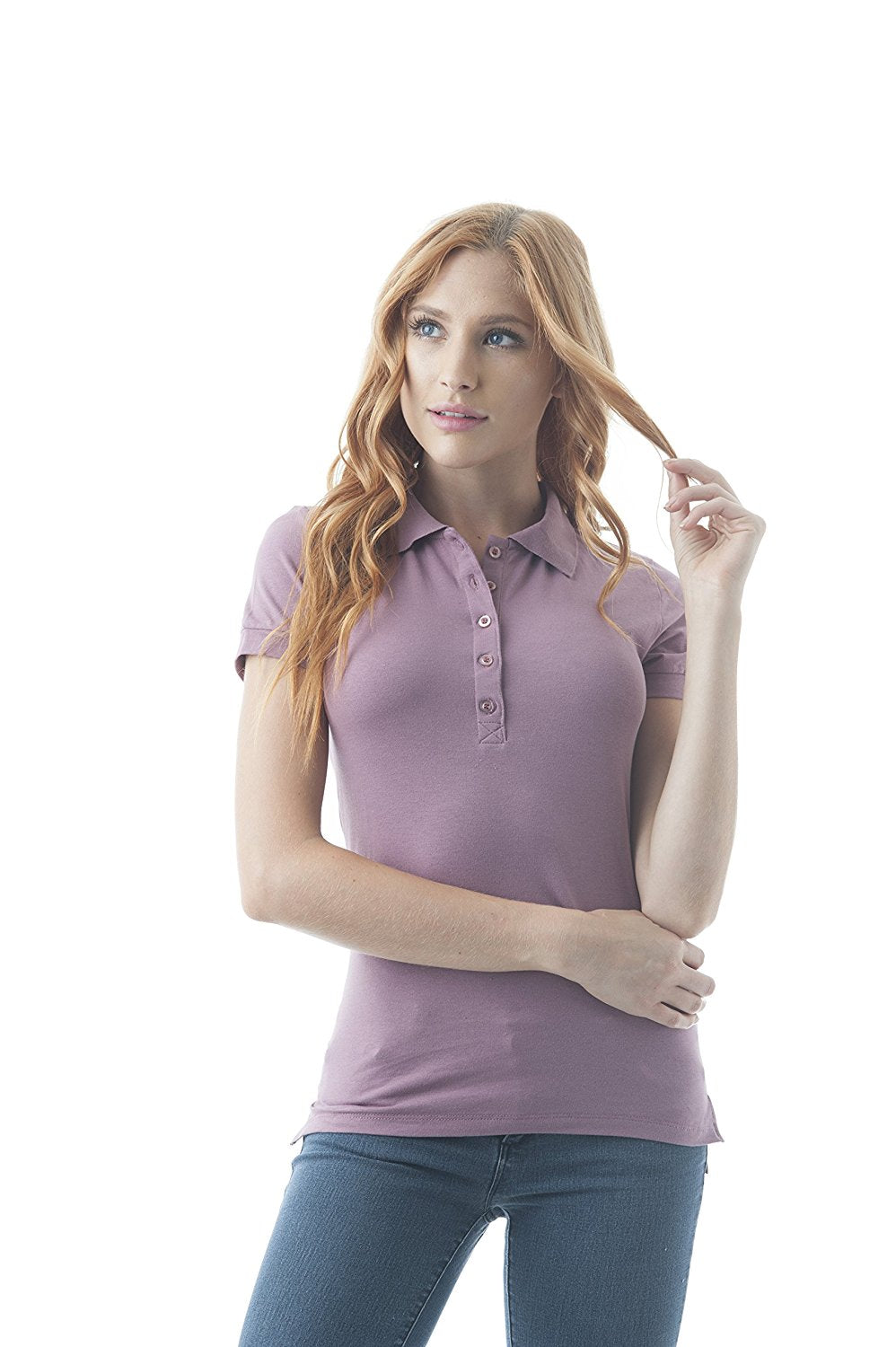 Hollywood Star Fashion Classic Short Sleeve Jersey Polo Shirt