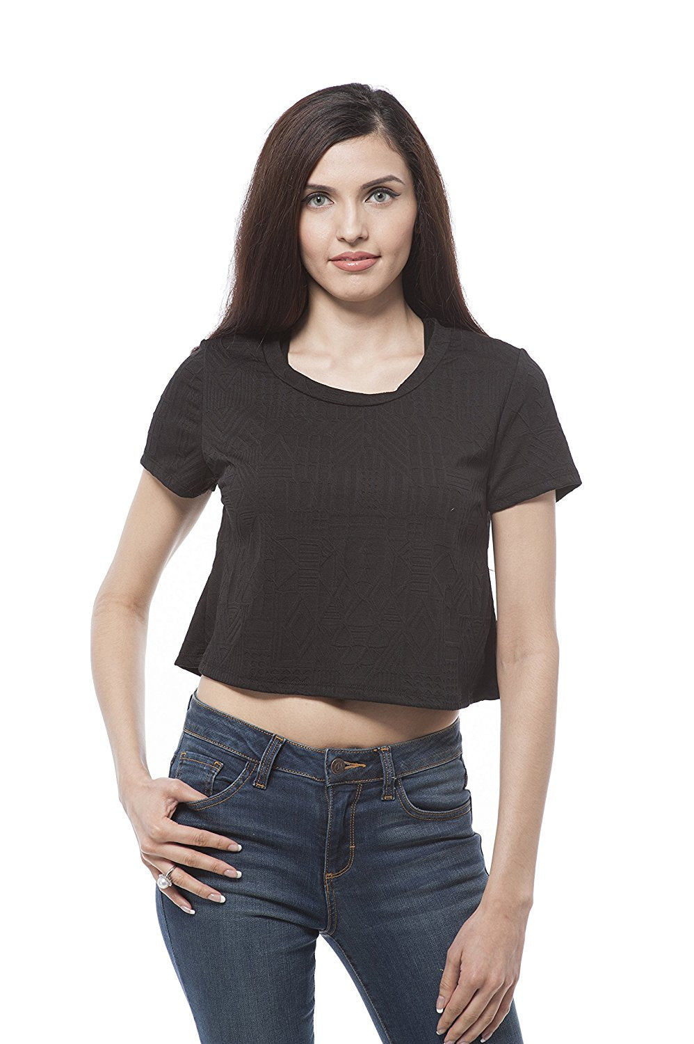 Short Sleeve Crop top with designs
