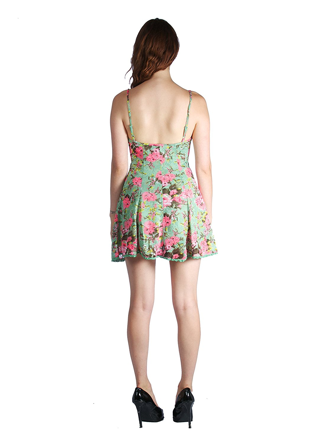 Sexy Strappy Mini Floral Print Cocktail Dress