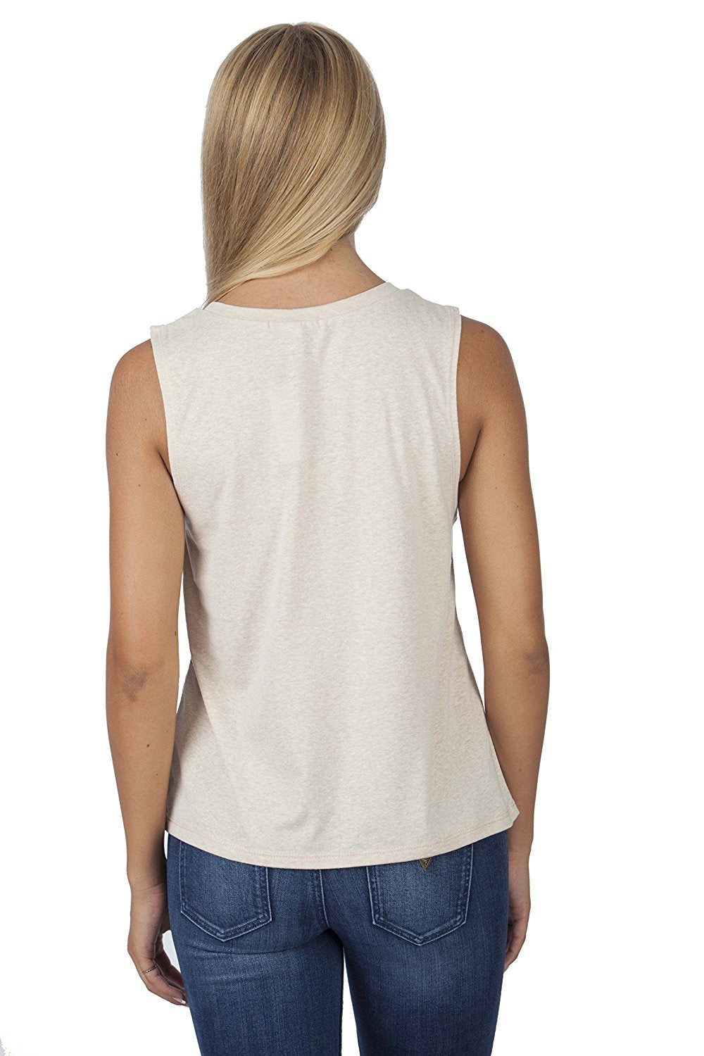 Hollywood Star Fashion Cutout Drop-Arm Tank Top Cotton Shirt