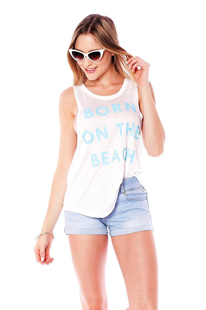 Sleeveless Tank Top Graphic Tees Born On the Beach