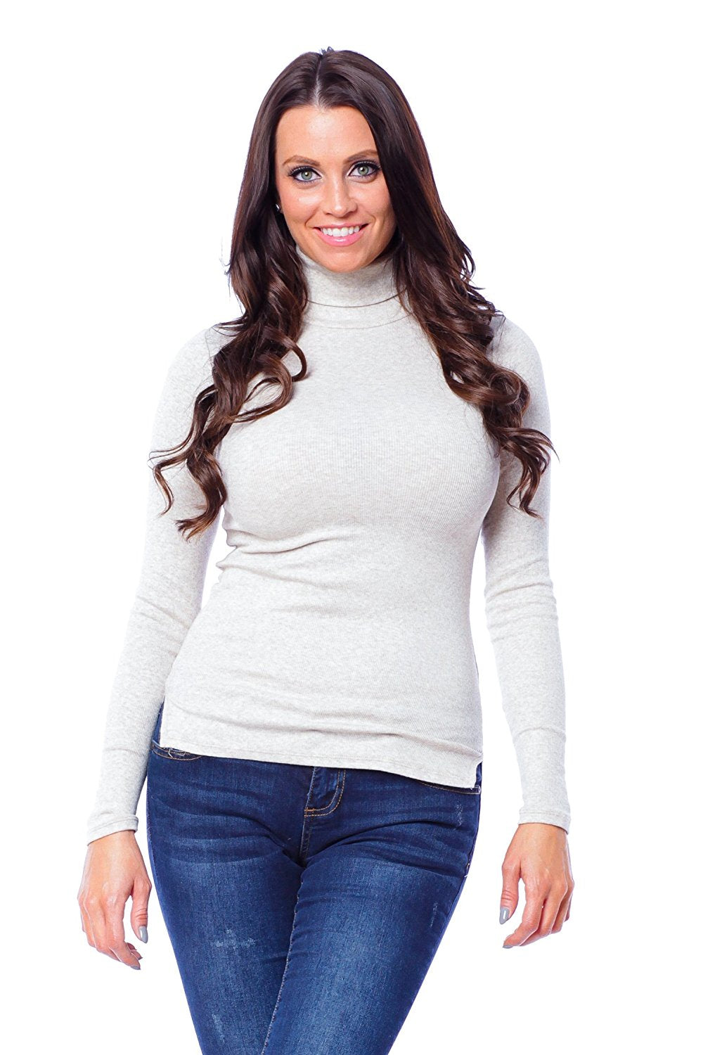 Hollywood Star Fashion Long Sleeve High Turtle Neck Top