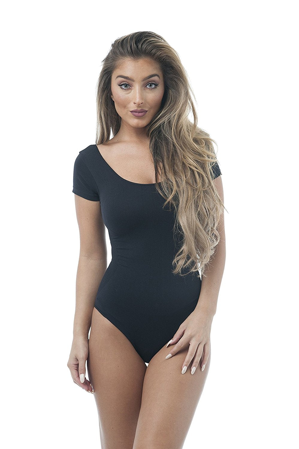 Short Sleeve Scoop Neck Body Suit