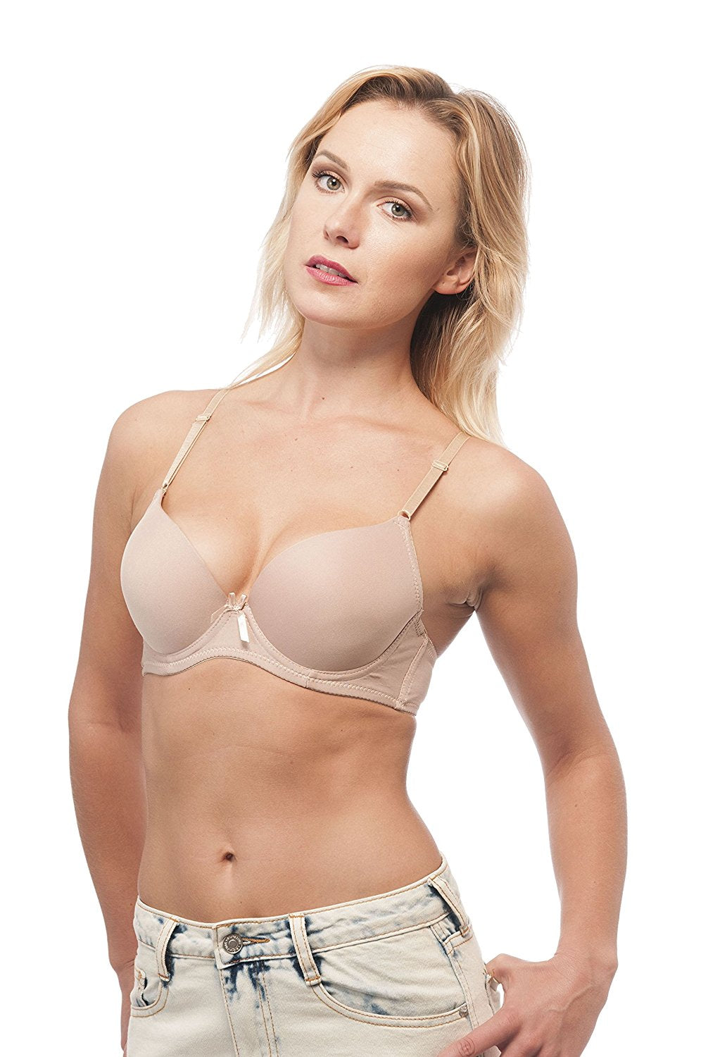 Hollywood Star Fashion Womens Solid Underwire Full Cup Push Up Bra