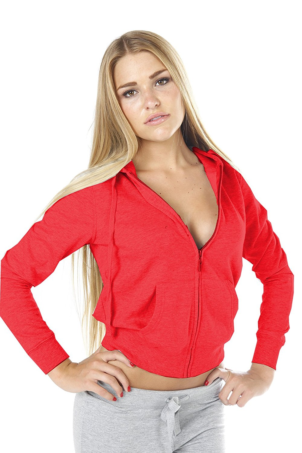 Hollywood Star Fashion Womens Hoodie Jacket With Zipper Zip Up Hoodie