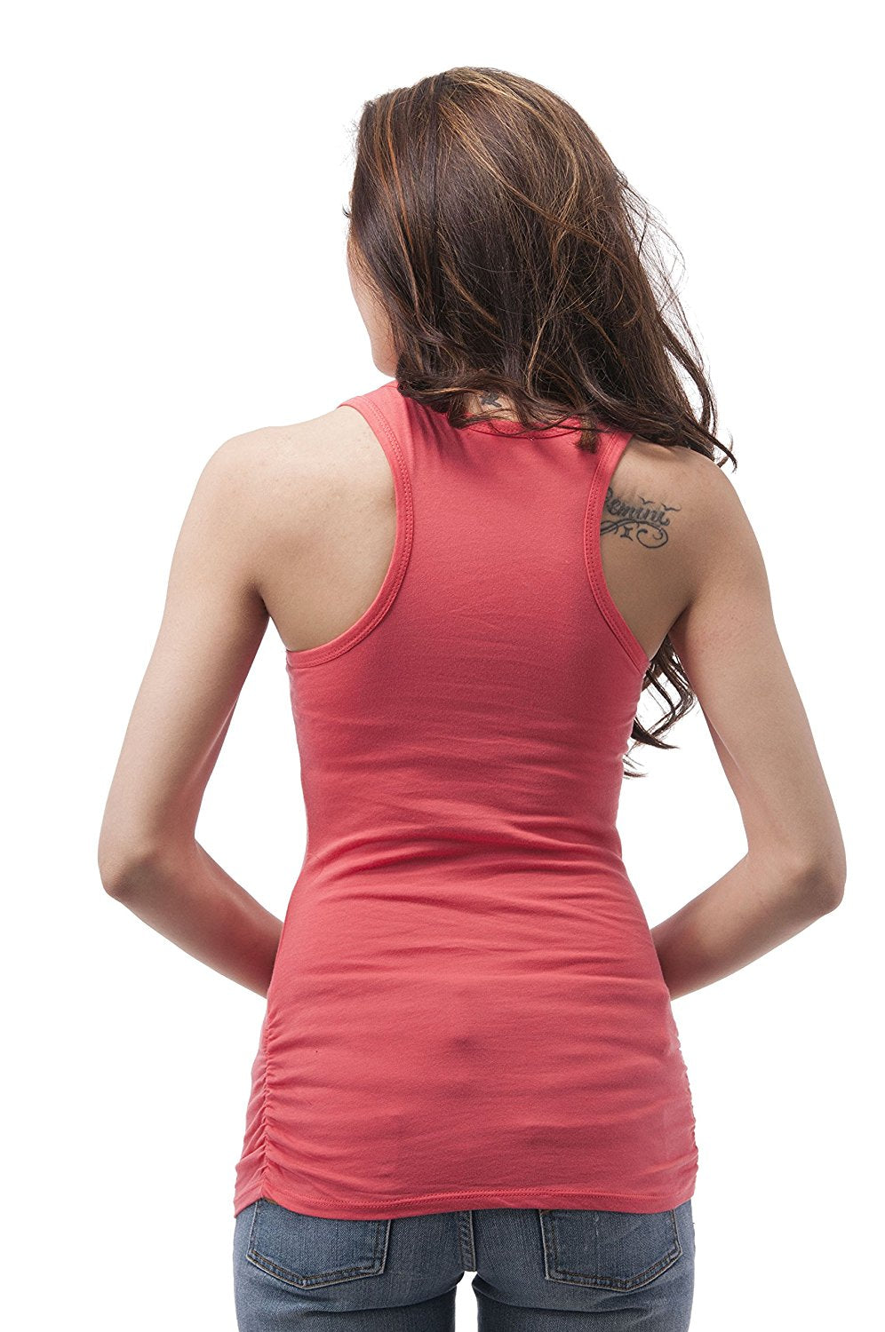 Hollywood Star Fashion Sleeveless Racer Back Tank Top