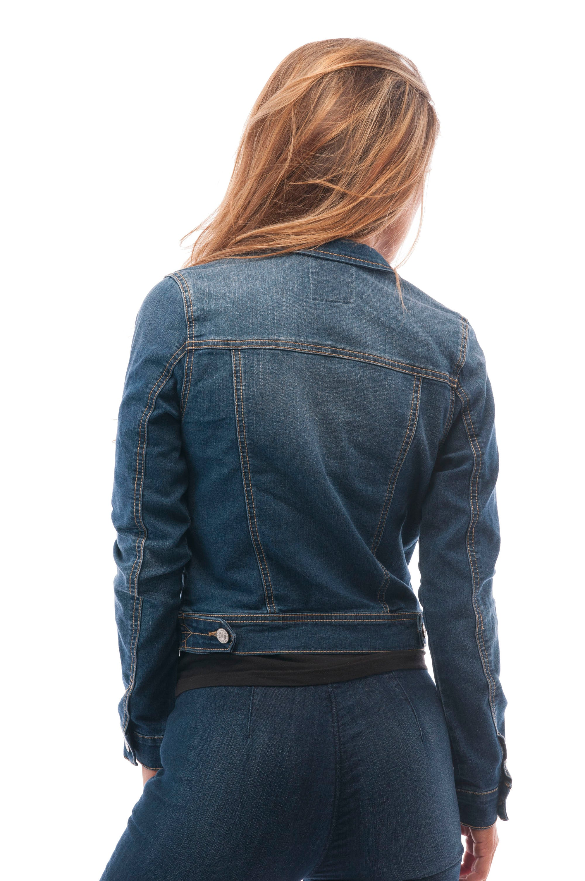 Hollywood Star Fashion Womens Basic Button Down Denim Jean Jacket