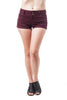 Solid High Waist 3 Button Cuffed Push Up Shorts