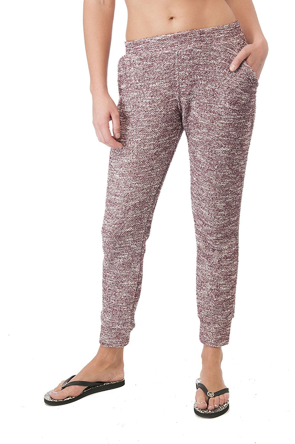 Knit Ankle Cuff Sweat Jogger Pants