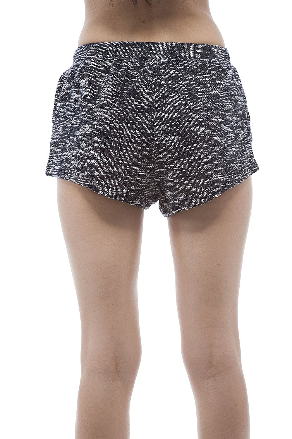 two tone french terry drawstring shorts