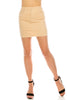 Women's High Waist Classic Corduroy Stretch Zip Up 5 Pockets Mini Skirt