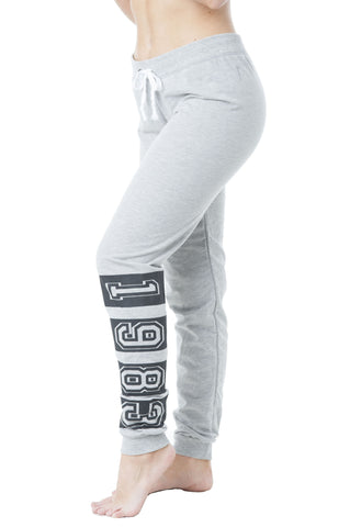 """1983""Graphic Drawstring Print Light Weight Sweat Pants"