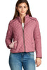 Khanomak Women's Quilted Padding Jacket With Suede Piping Detail