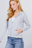Long Sleeve Zipper French Terry Jacket with Kangroo Pocket