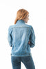 Classic Denim Jean Buttoned Front Long Sleeve Basic Collar Cotton Jacket