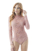 Khanomak Long Sleeve All Lace Mock Neck Bodysuit