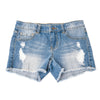 Khanomak Kids Girls' Denim Distress Ripped Shorts