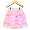 Khanomak Kids Girls Layered All Solid Ruffle Tutu Skirt