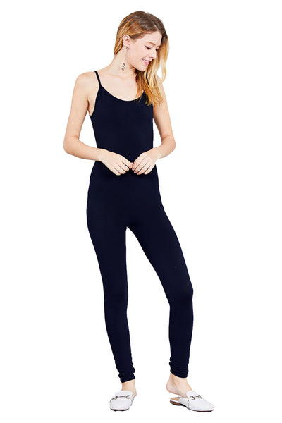 Cami Strap Bodycon Cotton Spandex Leggings Pants Jumpsuit