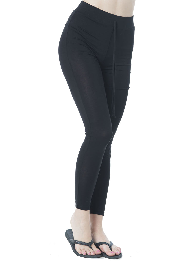 Drawstring Spandex Stretchy Fitted Long Pants Leggings