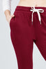 Women's Active Yoga French Terry Black Sweatpants Workout Joggers Pants - Small