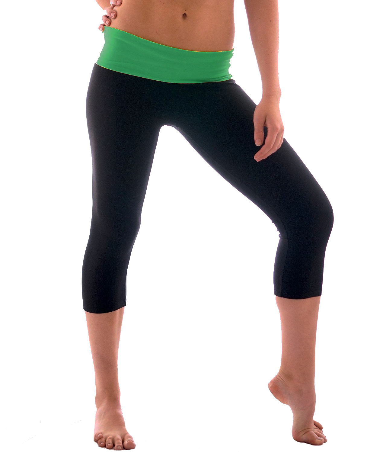 Women's Slimming Foldover Capri Crop Yoga Pants