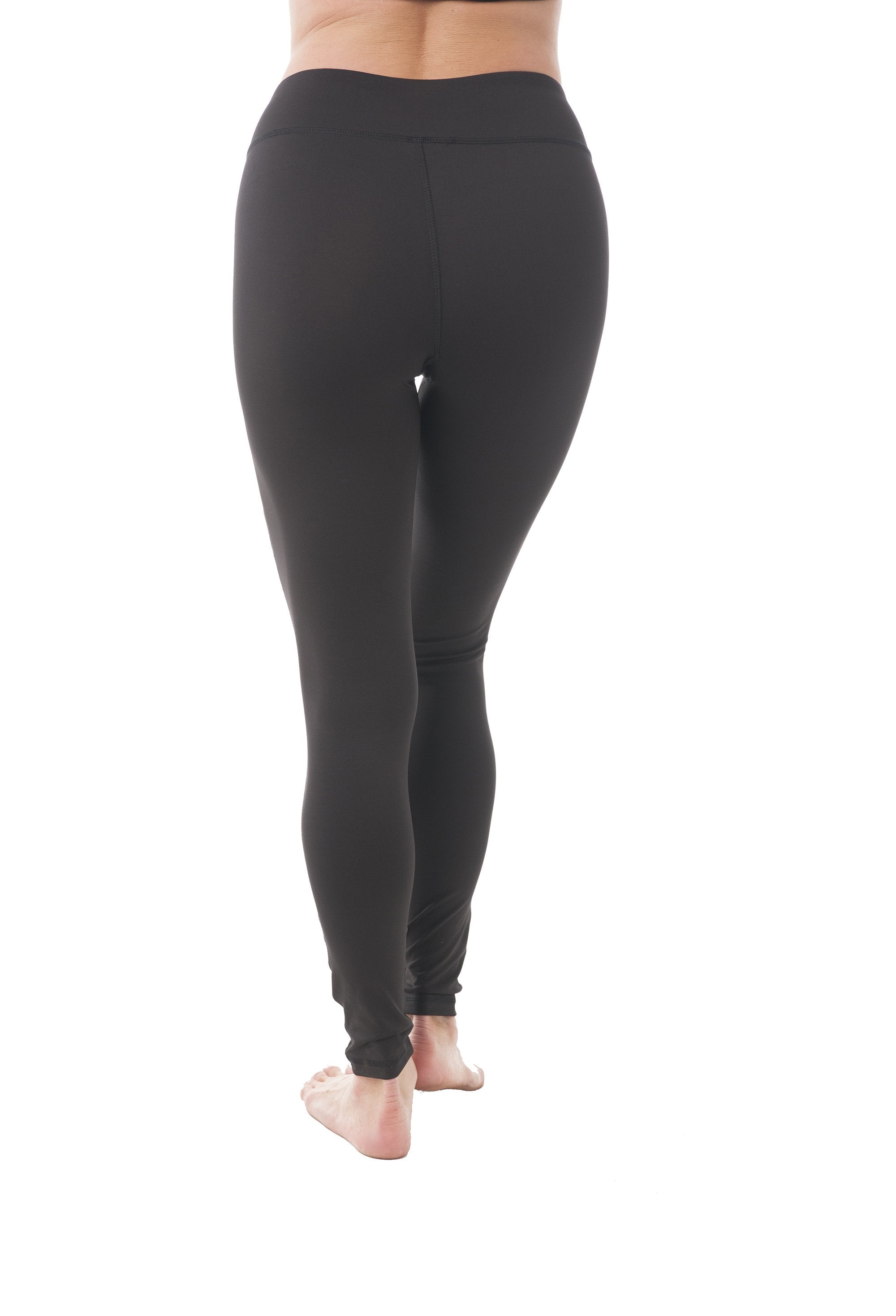 Full Length Athletic Yoga Leggings Double Mesh Trim Detail