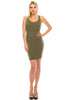 Women's Summer Bodycon Racerback Sleeveless Basic Mini Black Clubwear Dress - Small