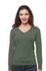 Long Sleeve V Neck Knit Sweater Plus Size