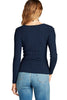 Women's Plus Size Fitted V Neck Ribbed Knit Lightweight Sweater Top