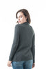 Plain Long Ribbed Open Front Long Sleeve Knit Cardigan Sweater