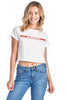 "Women's Short Sleeve Crewneck Graphic ""Limited Edition"" Crop T-Shirt Tee"