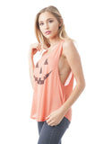 Sleeveless Pumpkin Face Graphic Tank Top