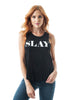 "Sleeveless Tank Graphic Tee's ""White Slay"""