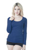 Long Sleeve Crew Neck Plain Top