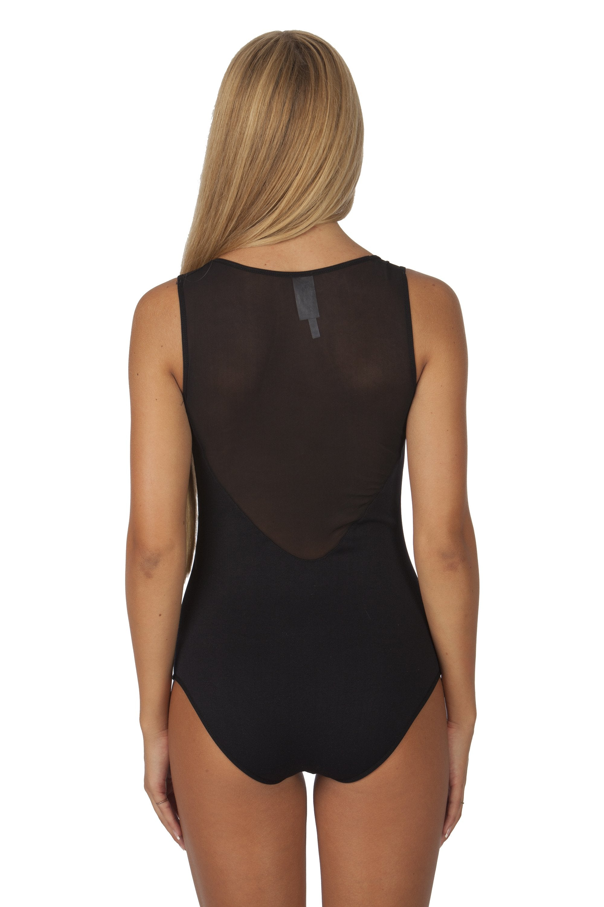 Women's-Sleeveless-Mesh-back-Sweetheart-One-Size-BodySuit