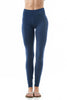 Women's Active Basic Plain Casual Cotton Stretchy Full Length Leggings