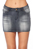 Women's Jeans Denim Mini 5 Pocket Skirt for Juniors