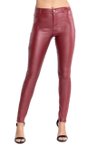 Faux Leather High Waist PU Long Hip Push Up Shaping Leather Pants