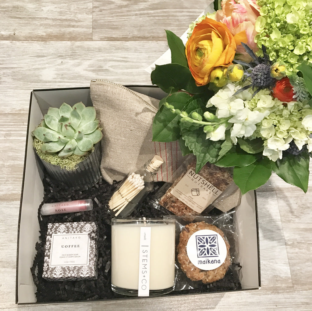 The Shop Box + Bouquet Bundle: Mother's Day Edition