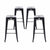 "Buschman Metal Bar Stools 30"" Bar Height, Indoor/Outdoor and Stackable, Set of 4 (Matte Black)"