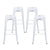 "Buschman Metal Bar Stools 30"" Bar Height, Indoor/Outdoor and Stackable, Set of 4 (Matte White)"