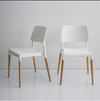 Buschman Set of 2 White Eames Mid Century Modern Dining Chairs
