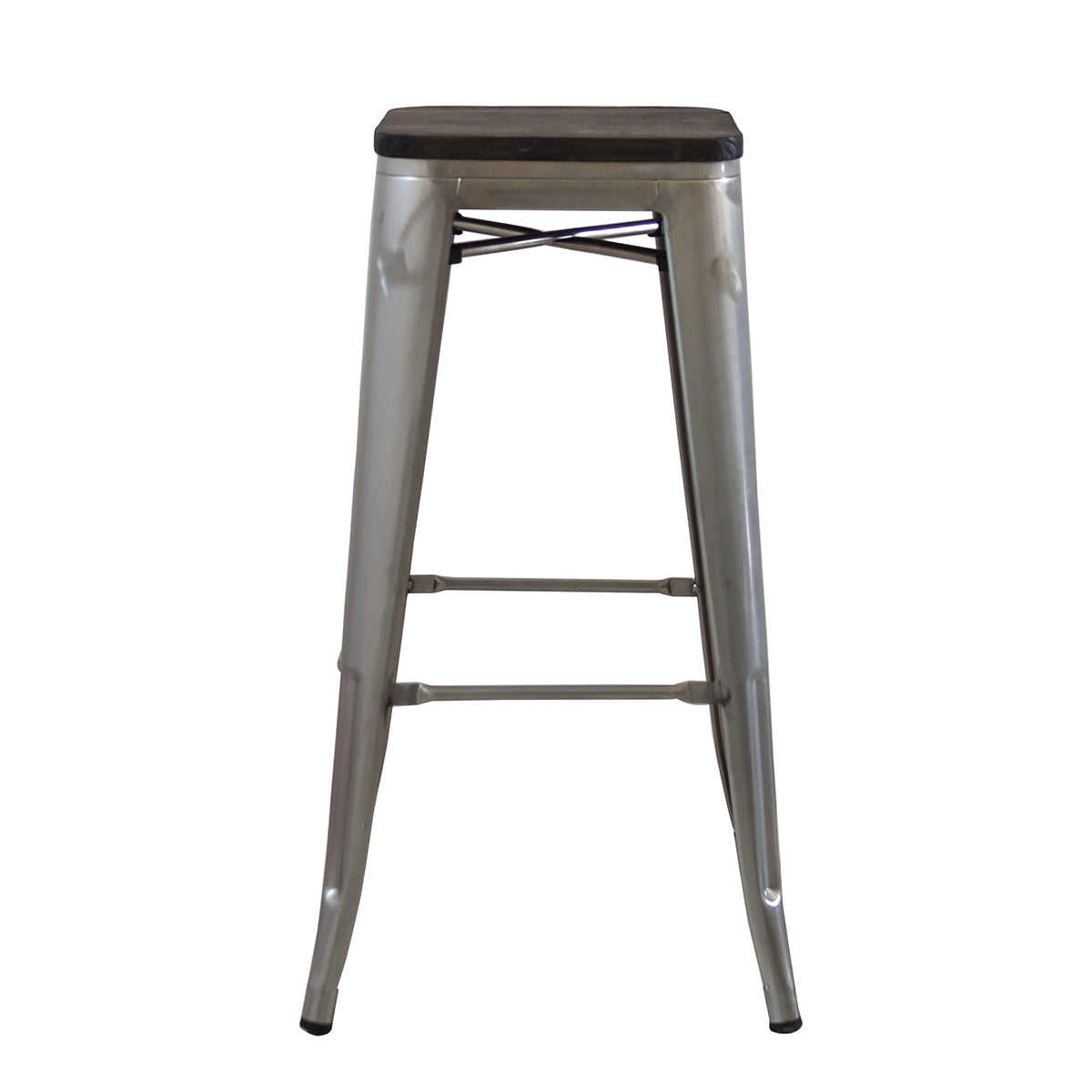 Remarkable Buschman Metal Bar Stools 30 Bar Height Indoor Outdoor And Stackable Set Of 4 Galvanized With Wooden Seat Squirreltailoven Fun Painted Chair Ideas Images Squirreltailovenorg