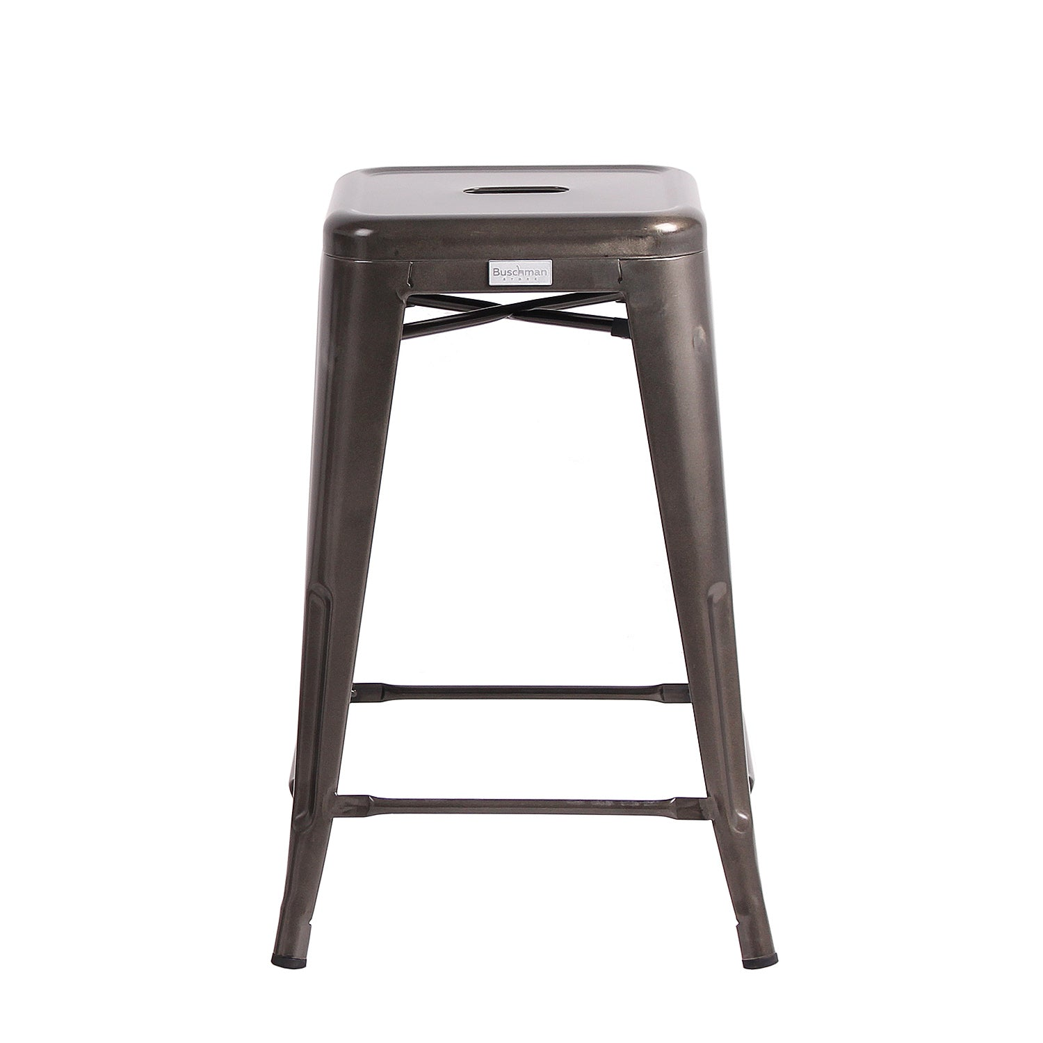 Prime Buschman Set Of 4 Gun Metal 24 Inch Counter Height Metal Bar Stools Indoor Outdoor Stackable Ibusinesslaw Wood Chair Design Ideas Ibusinesslaworg