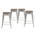 "New Buschman Metal Bar Stools 24"" Counter Height, Indoor/Outdoor and Stackable, Set of 4 (Galvanized with Wooden Seat)"