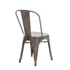 Buschman Set of Two Bronze Dining Room Industrial Metal Stackable Chairs With Back