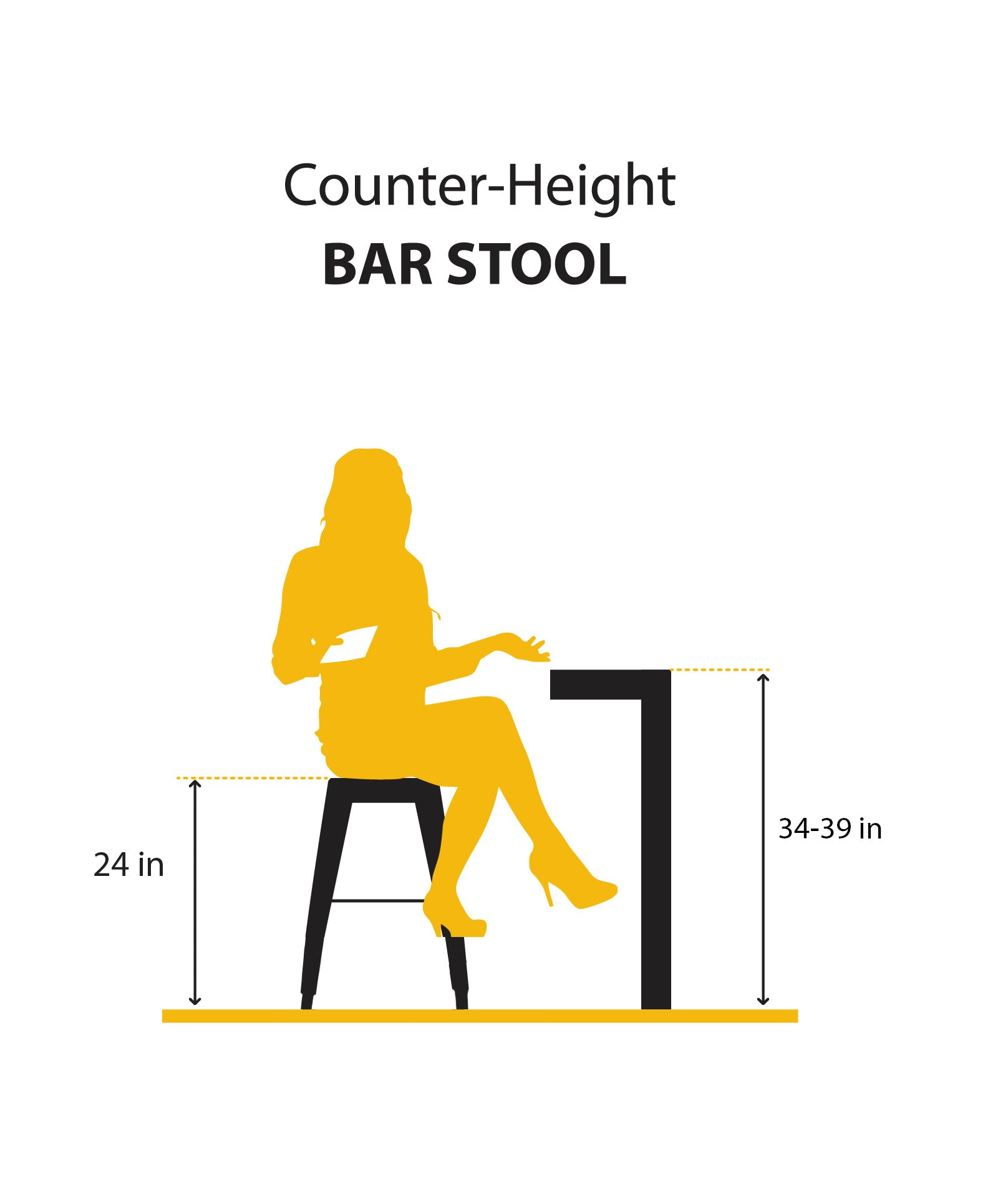"Buschman Metal Bar Stools 24"" Counter Height, Indoor/Outdoor and Stackable, Set of 4 (Dark Grey with Wooden Seat)"