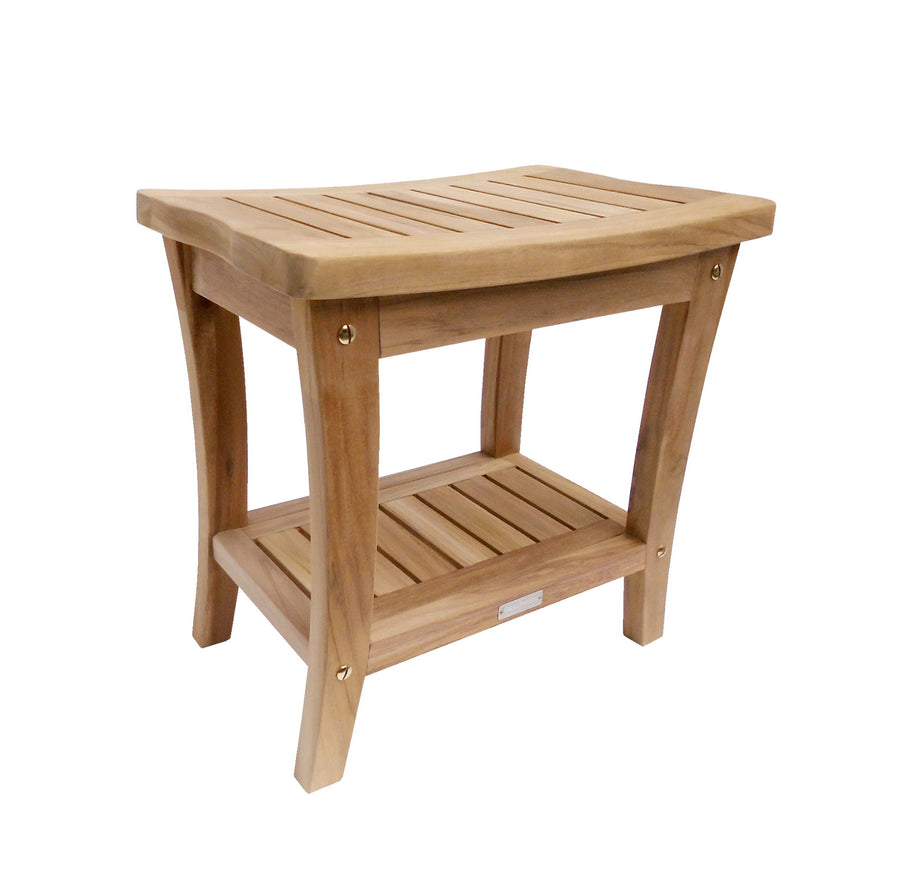 Buschman 18 Inches Teak Shower Bench